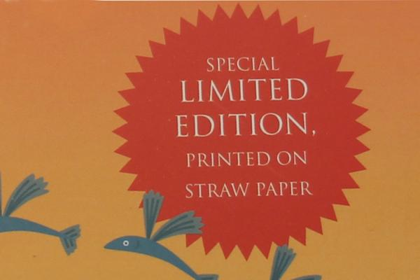 Straw paper book